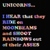 amberdreams: Dean's quote about unicorns shooting rainbows out of their asses (unicorn-quote)