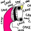 platypus: (hyperbole-cake, cake)