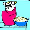 platypus: (hyperbole - popcorn)