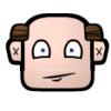 bikergeek: cartoon bald guy with a half-smile (Default)