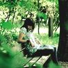 sauramora: Girl sitting on a bench (Default)