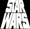 sharpest_asp: Classic Star Wars title shot in black and white (Star Wars: Title)