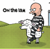 corbeau: On the Lam art from Pearls Before Swine (On the Lam)