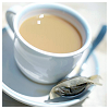 bellflower: A cup of white tea in a plain cup-and-saucer ([Drinks] Morning cuppa)