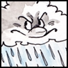 kelkyag: Drawing: Cranky-face raincloud (grumpy cloud)