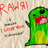 inkstain: ([Misc] Dinosaur love)
