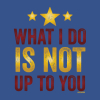 "minstrlmummr: Line from Wonder Woman movie:  ""What I do is not up to you."" (Amazon, Not Up To You, Wonder Woman) (Default)"