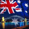 chiroho: (aus - harbour bridge with flag)