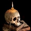a_chromatic_sea: (skull books candle)