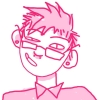 citschhazel: drawn by a wonderful artist friend (pink, queer)
