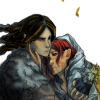 utulien_aure: Fingon and Maedhros on eagleback (wounded, eagleback)