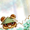anaraine: A Harvest Moon critter with their head peering out of the bushes. ([harvest moon] peek-a-boo)