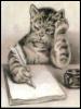 m_cobweb: (cat writing)