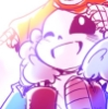 sansational: Sans as a babybones, beaming up at Papyrus where he's safe on Sans' shoulders ([Babybones] Time for adventure!)