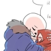 sansational: Sans as a babybones, holding Papyrus and whispering encouragement to him ([Babybones] Encouragement from the kid)