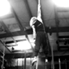 xenacryst: One arm hang on aerial rope (Aerial rope)