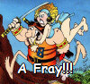 kayshapero: Groo the Wanderer bouncing into A Fray!! (Groo)