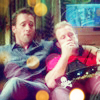 desertport: Danny with Steve's arm around him on the couch with popcorn omg (mcdanno)