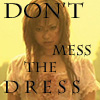 "zlabya: Photo of young woman with bloody face & messed-up pink frilly dress TExt: ""DON'T mess the DRESS"" (Momoko DontMessDress)"