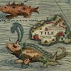 worldbuildingmod: Detail from Carta Marina showing Thule and sea monsters (thule)