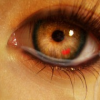 rachelmanija: Eye with scarlet mote (Kushiel: Eye with mote)