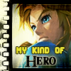 "zimena: Link from Legend of Zelda, with a text that says ""My kind of Hero"". (Zelda - My kind of Hero)"