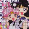 asiren: Chibi Moon & Saturn hugging. (friends! - chibi moon & saturn)