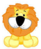 blueberrybones: A cartoon lion tilting its head slightly. (Lion)
