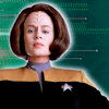muccamukk: B'Elanna standing in front of lines of code. (ST: Engineering)