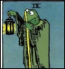 arliss: proposed muppet tarot art (kermit hermit)