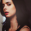 shopfront: Source: Jessica Jones. Profile shot of Jessica mid-word (JJ - [Jess] super real with super flaws)