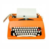 100words: An Orange Typewriter (Writing Orange Typewriter)