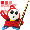 st_aurafina: Shy guy from Mario, rendered in red wool (Crochet: shy guy)