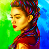 trascendenza: izzy from shadowhunters in bright colors. (8 yim thumbs.)