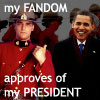 ride_4ever: (Fraser and Obama with text)