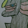 reihanfeoru: Shadestar Arceus, red and black (arceus)