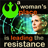 "hederahelix: Mature General Organa and ""A woman's place is leading the resistance."" (woman's place)"