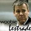 """misbegotten: Gregory Lestrade from Sherlock with the text """"woobie Lestrade"""" (Holmes Woobie Lestrade)"""