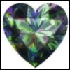 azurelunatic: A green-blue-and-purple gemstone heart, made of alexandrite (alexandrite)