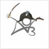 nenya_kanadka: stick figure British navy officer perched on AO3 logo (AO3, @ AO3)
