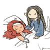 utulien_aure: at Maedhros' sickbed (sickbed)