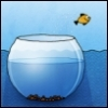 ghoti: fish jumping out of bowl (fishbowl)