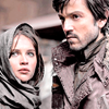 anghraine: jyn erso and cassian andor standing together (jyn and cassian)