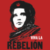 anghraine: a stylized picture of jyn erso; text: viva la rebelión (jyn (rebelión))
