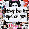 "juniperphoenix: Protest signs at the Women's March depicting Princess Leia and the words ""history has its eyes on you"" (Activism)"