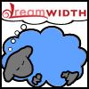 pine: bright blue dreamwidth sheep made by helens78 (Dreamsheep_briteBlue)