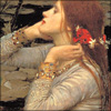 galatea: pretty lady, pretty flowers, pretty hair. (pretentious ophelia icon!)
