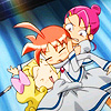 skygiants: Pique, Duck and Lilie, from Princess Tutu.  HUGS FOR EVERYONE (group hug!)