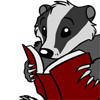 geoholms: (Badger Reading)