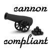 "misbegotten: A picture of a cannon with the text ""cannon compliant"" (Writing Cannon Compliant)"